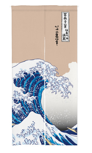 Ukiyo-e Print Japanese Doorway Curtain