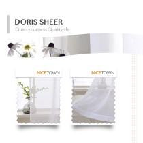NICETOWN Custom Solid Linen Look Doris Sheer Fabric Swatch Refundable Order Amount Over $199