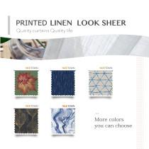 Prints Linen Look Slub Sheer Fabric Swatch Refundable Order Amount Over $399