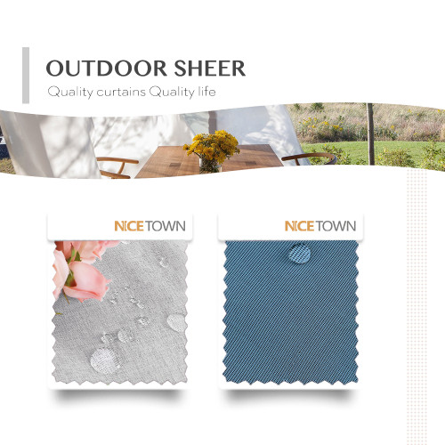 Solid Outdoor Sheer Waterproof Fabric Swatch Refundable Order Amount Over $399