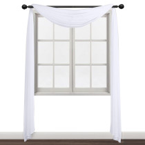 Custom Sheer Curtains Panel-Home Decoration Sheer Voile Bed Canopy Scarf Valance for Wedding by NICETOWN ( 1 Panel )