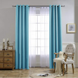 Custom All Style Solid Blackout Curtain Thermal Insulated Energy Saving Privacy Drapes for Living Room Customized Services by NICETOWN ( 1 Panel )