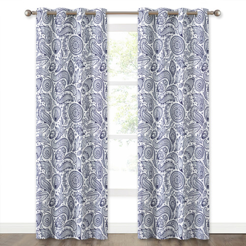 Floral Bohemian Style Room Medallion Blackout Curtain(1 Panel)