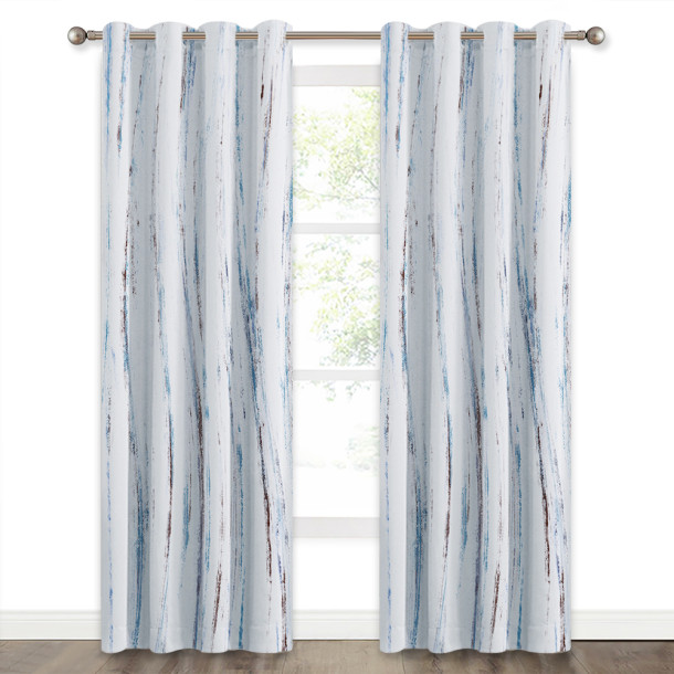 NICETOWN Contemporary Oil Painting Modern Abstract Art Pattern Window Blackout Curtain (1 Panel)