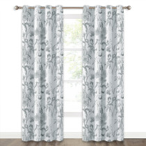 NICETOWN Leaves&Floral Pattern Thermal Insulated Blackout Curtain(1 Panel)