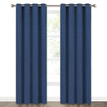 NICETOWN Luxury Textile Faux Woven Pattern Window Blackout Curtain (1 Panel)