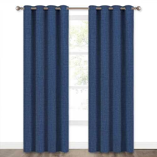 Custom Faux Woven Pattern Blackout Pattern Thick Thermal Insulated Blackout Curtain by NICETOWN ( 1 Panel )