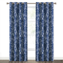 Nature Forest Landscape Pattern Blackout Curtain for Bedroom Window (1 Panel)