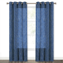 Starry Faux Linen Semi-Sheer Curtain (1 Panel)