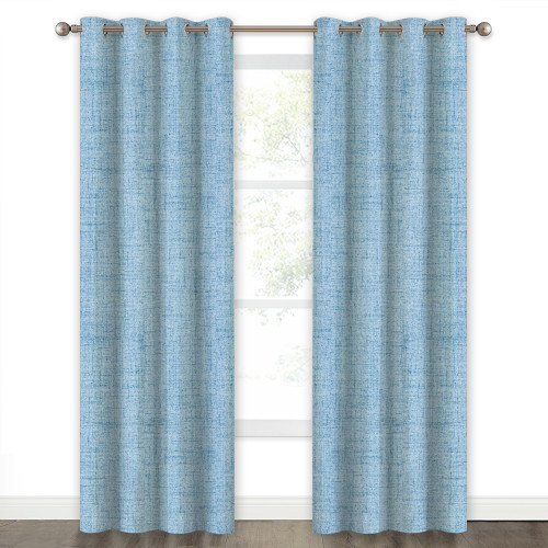 Faux Linen Texture Pattern 100% Blackout Curtain(1 Panel)