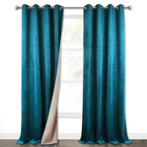 NICETOWN 2 Layers Soundproof Blackout Velvet Curtain (1 Panel)