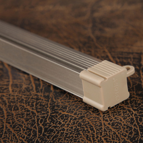 Double-layer Aluminum Curtain Track Straight Track Curtain Rail Slide Nano Mute Strip Single and Double Rail, Sold as 1 Single Rod