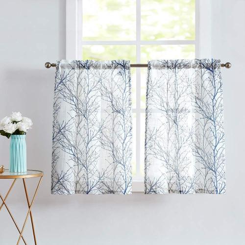 Us 26 5 Kitchen Curtain Window Tree Branch Print Semi Sheer