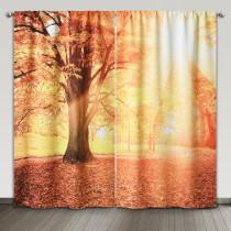 Autumn Park Digital Printing Room Darkening Curtain, Sold as 2 Panels
