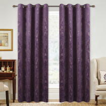 Custom Purple Print Blackout Velvet Curtain Thermal Drapery Room Darkening Curtain for Living Room by NICETOWN ( 1 Panel )