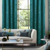 Custom Purple Print Blackout Velvet Curtain Thermal Drapery Room Darkening Curtain for Living Room by NICETOWN ( 1 Panel )