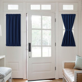 Custom Front Door Curtain Blackout Thermal Insulated Sidelight French Door Privacy Panel for Window / Living Room / Sliding Door by NICETOWN ( 1 Panel )