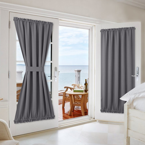 Thermal Insulated Blackout French Door Sidelight Door Window Curtain,Sold as 1 Panel