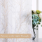Sheer Window Curtain Linen Look, Privacy with Light Filter Texture Double Colors Branch Twist Pattern Paint on White Sheer