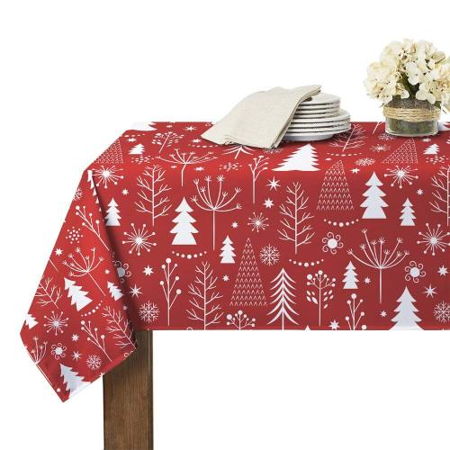 Waterproof Tablecloth with Christmas Pattern for  Rectangle Table and Parties