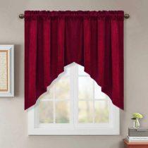 NICETOWN Scalloped Blackout Velvet Curtains Valance