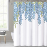 NICETOWN Custom Floral Printed Plant Water Resistant Shower Curtain