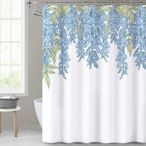 Vintage Shower Curtain, Floral Printed Plant Bathroom Decor Water Resistant