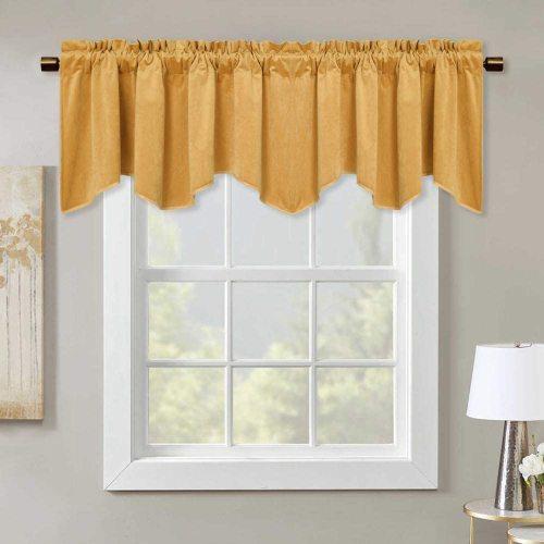 Blackout Velvet Curtain Window Valance