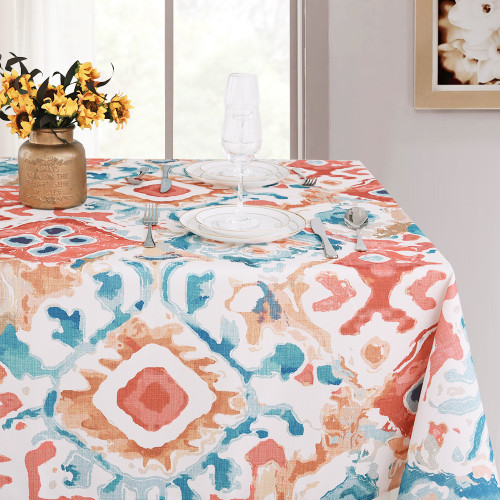 Pattern Print Waterproof Tablecloth for Parties