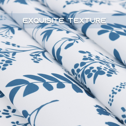 Blue Flower Waterproof Tablecloth for Rectangle Table