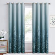 Branch Pattern Room Darkening Curtain - 1 Panel