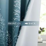 Custom Ombre Branch Patterned Blackout Curtain Room Darkening Thermal Curtain by NICETOWN ( 1 Panel )