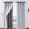 Custom Nursery Crushed Voile Sheer Solid Blackout Curtain Panel  Room Darkening with Tie-Backs for Kids Room by NICETOWN ( 1 Panel )
