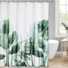 Banana leavs shower curtain waterproof and mildewproof