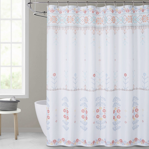 Floral Medallion Shower Curtain