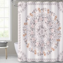 NICETOWN Custom Sketched Floral Shower Curtain