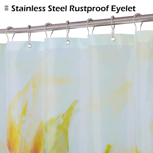 Sunflower Shower Curtain for Bathroom-Yellow Shower Curtain by Nicetown Custom