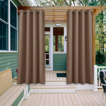NICETOWN Blackout Waterproof Outdoor Curtain for Patio/Front Porch,Grommet,Grey, (1 Panel)