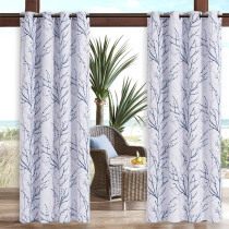 Two-color branch Waterproof Outdoor Curtain for Patio/Front Porch ,Sold as 1 Panel