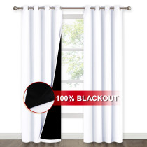 NICETOWN 2 Layers 100% BlackoutThick Thermal Insulated Curtain,Grommet,Grey, (1 Panel)
