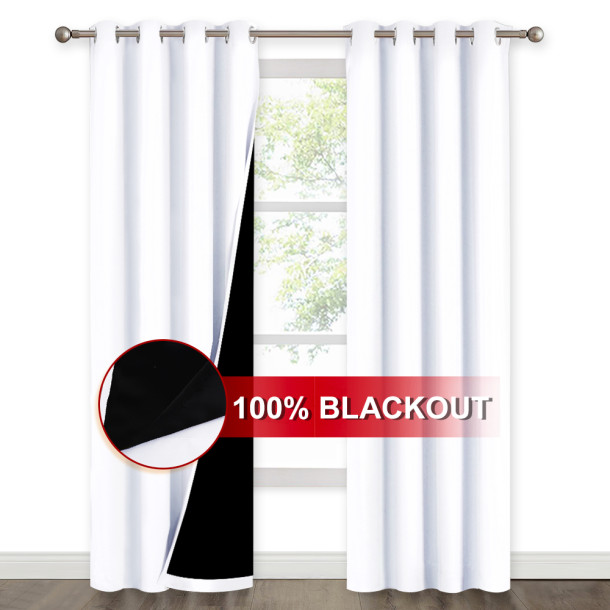 100% Blackout Thick Thermal Insulated Curtain, Sold as 1 Panel