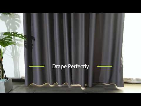 Solid Blackout Thermal Insulated Custom Curtain (1 Panel)