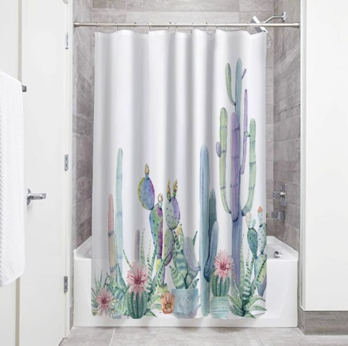 Special Cactus Artistic Bathroom Shower Curtain