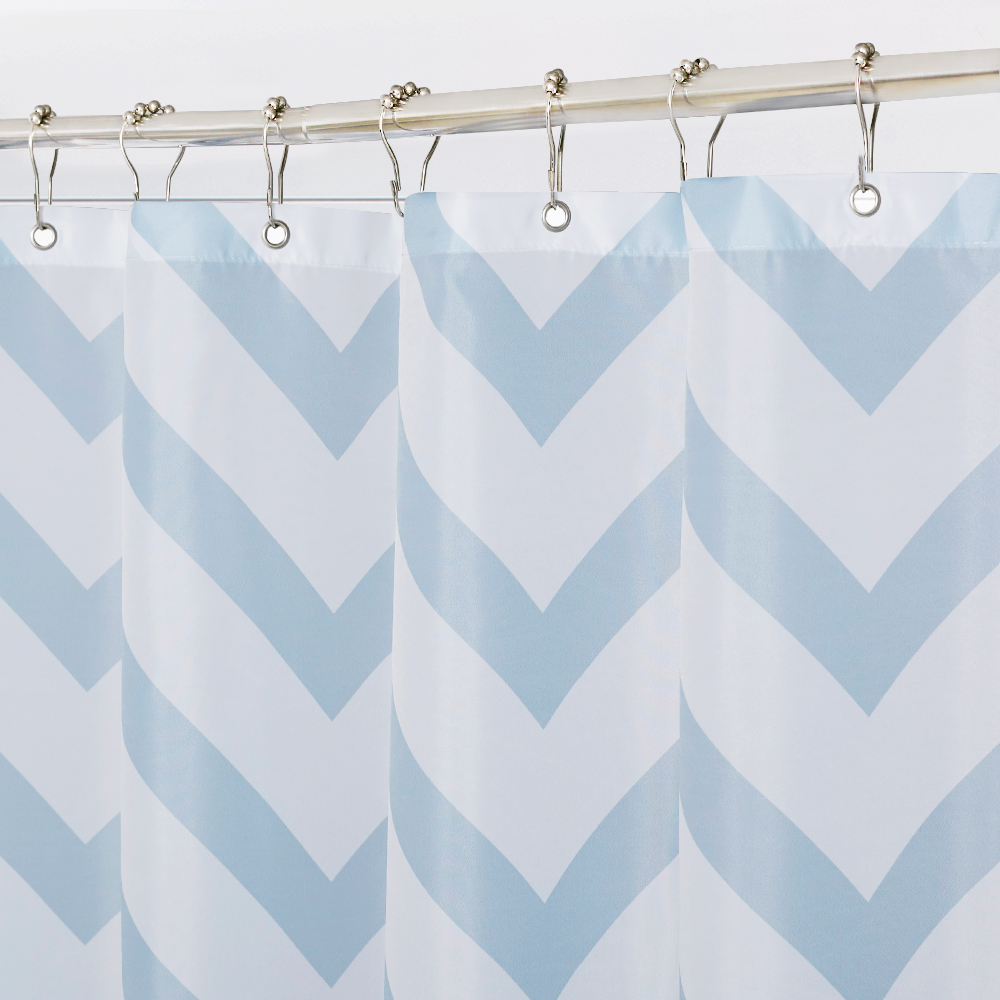 Blue Raindrop Artistic Bathroom Shower Curtain