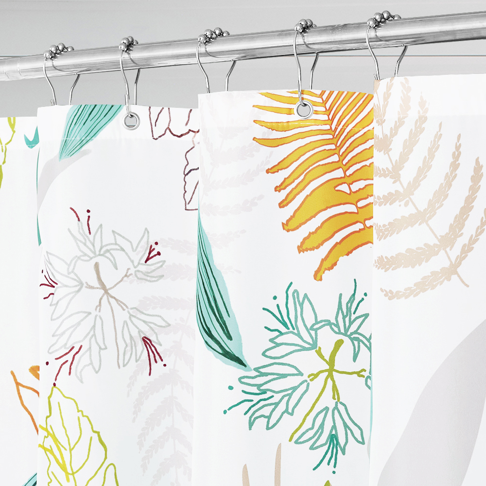 Yellow Leaf Green Leaf Artistic Bathroom Shower Curtain