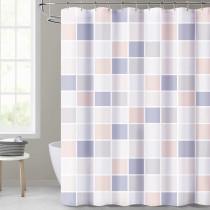 Farmhouse Blue Shower Curtain for Bathroom-Moranti Lattice by NICETOWN Custom