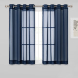Custom Chiffon Soft Silky Texture Sheer Curtain for Bedroom by NICETOWN ( 1 Panel )