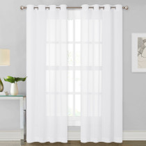 Chiffon Soft Silky Texture Sheer Curtain (1 Panel)