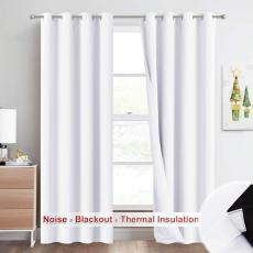 Soundproof Blackout Curtain 3 Layers Thick Curtain (2 Blackout Fabric & 1 Sound Absorbent Cotton), Sold as 1 Panel