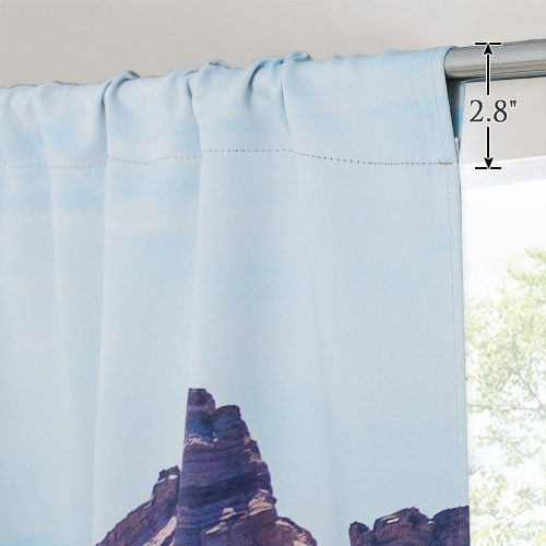 Desert Highway, Thermal Insulated Window Treatment Backdrop for Office/Sitting Room, Sold as 2 Panels